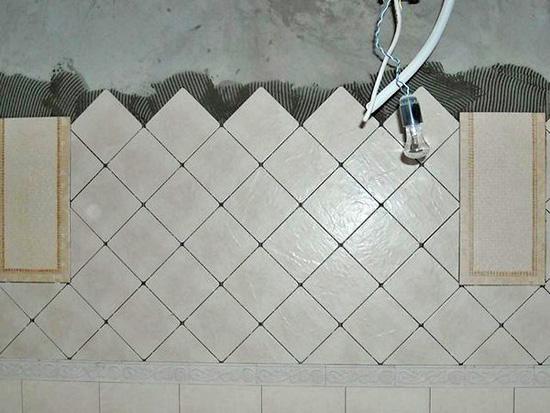 Укладка плитки по диагонали в санузле