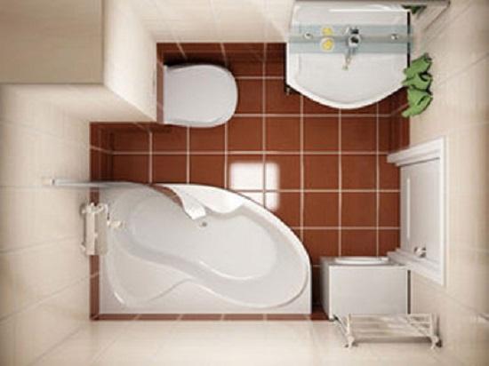 установка угловой ванны в маленьком санузле
