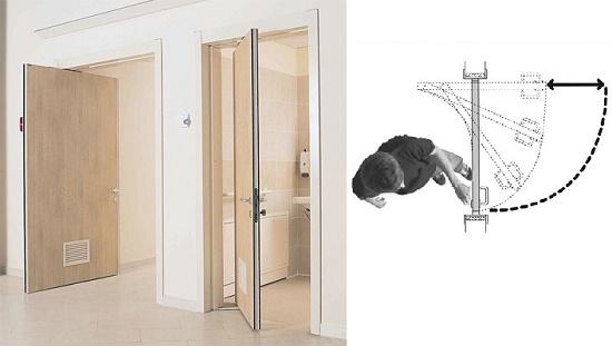 Поворотная дверь в санузел