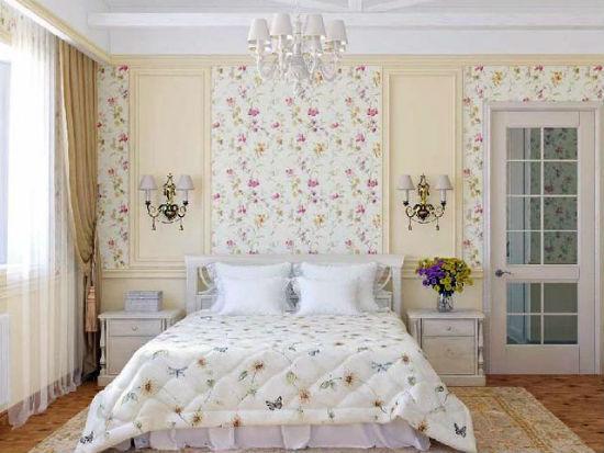Оригинальное решение для отделки стен спальни в хрущевке