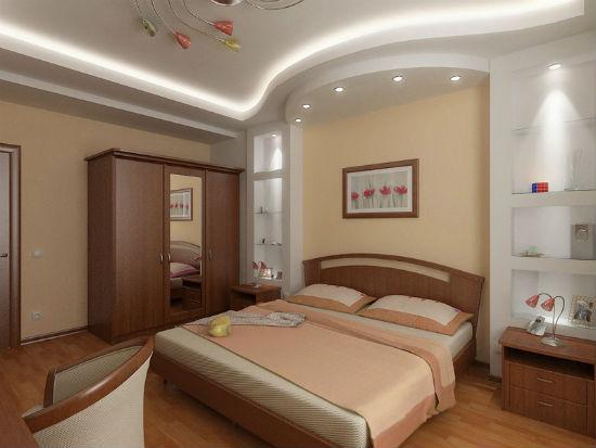 Декорирование спальни гипсовыми конструкциями