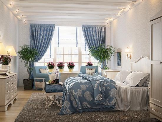 Украшение спальни прованс живыми цветами
