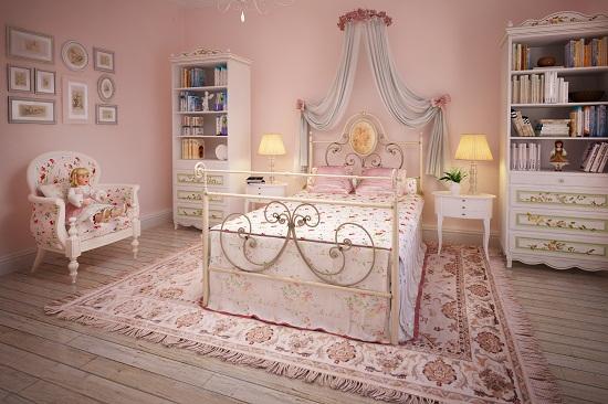 Использование розового цвета в оформлении спальни для девочки