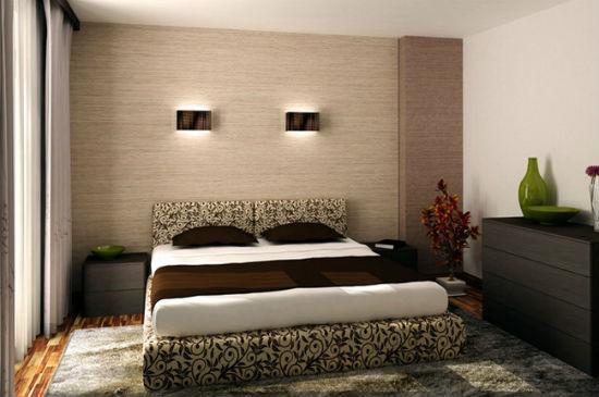 Небольшие элементы декора в спальне хрущевки