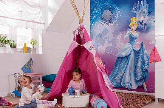 Практичные моющиеся фотообои для детской спальни
