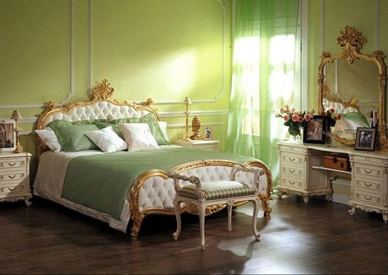 Позолоченная мебель спальни в викторианском стиле