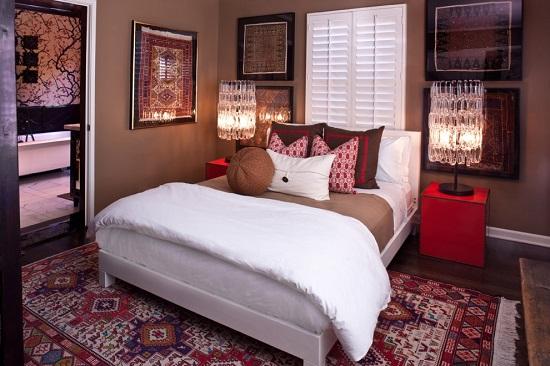Этнические элементы дизайна в интерьере спальни