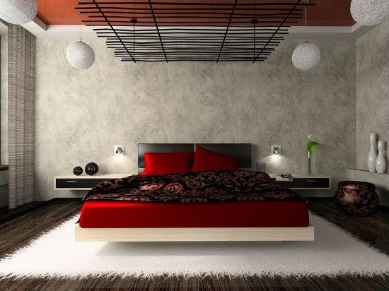 Сочетание модерна и японского стиля в дизайне спальни