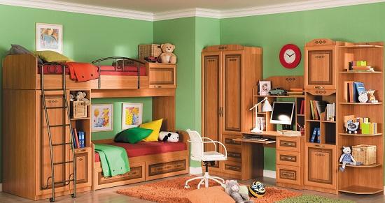 Многофункциональная мебель для детской комнаты девочек