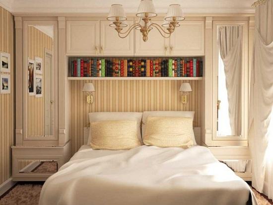 Эргономичная мебель для хранения в узкой спальне