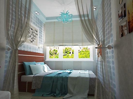 Установка кровати поперек узкой спальни