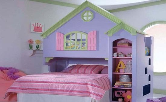 Оформление спальни девочки в виде сказочного домика