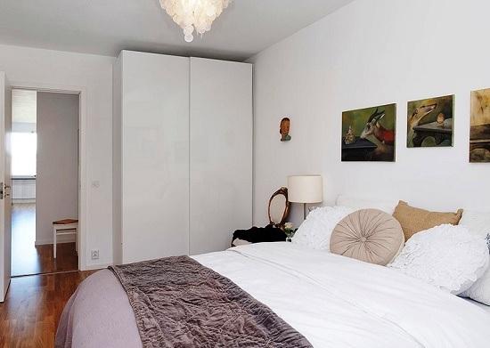 Малогабаритная спальня в скандинавском стиле