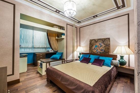 Объединение маленькой спальни с балконом