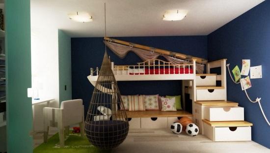 Оформление спальни для мальчиков в морском стиле