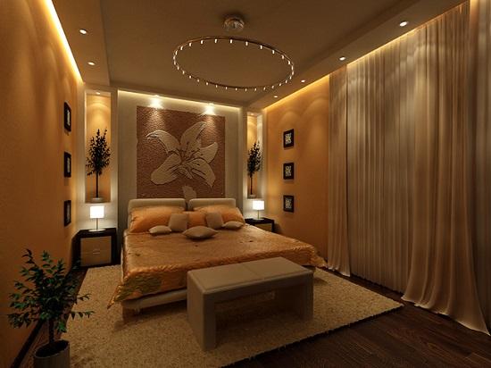 Красивая спальня после проведения евроремонта
