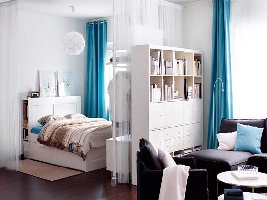 Идея для осуществления зонирования гостиной-спальни