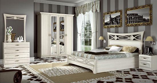 Классическая итальянская мебель белого цвета для спальни