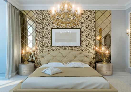 Классический дизайн спальни после ремонтных работ
