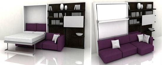 Раздвижной диван-кровать в интерьере гостиной-спальни