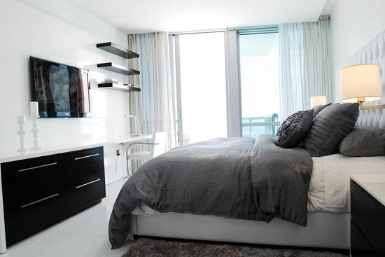 Спальня в стиле минимализм после ремонта