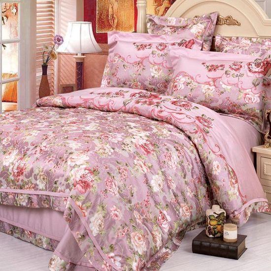Богатая расцветка текстиля розового цвета для покрывала спальни
