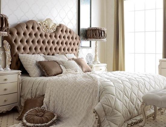 Отделка цвет спальни обоями белого цвета