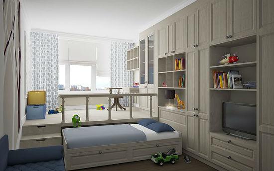 Совмещение детской спальни с гостиной