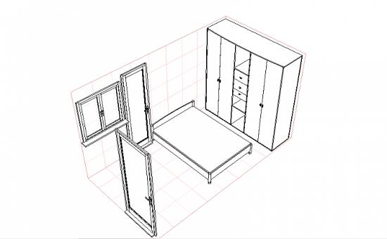 Дизайн-проект ремонта спальни в 3d