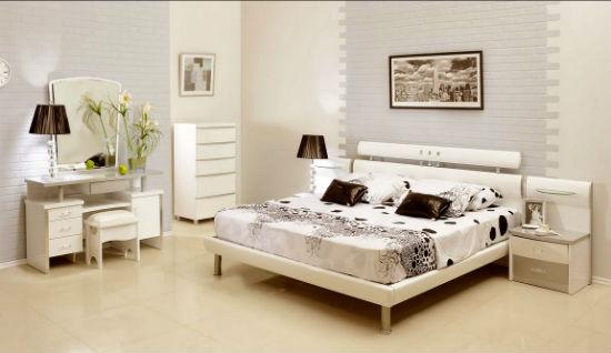 Белая миниатюрная мебель для спальни из МДФ