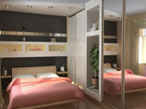 Шкаф купе в маленькой спальне