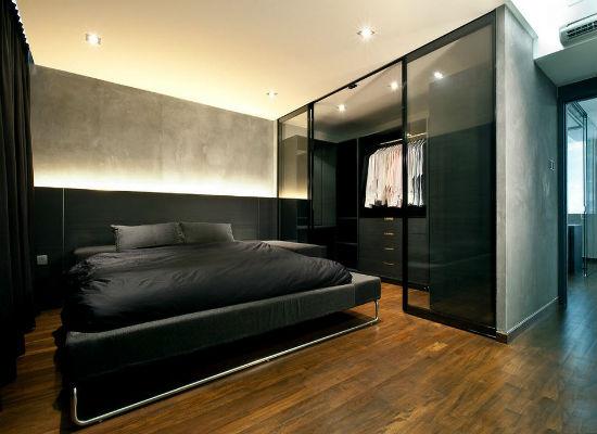 Оборудование отдельной зоны в спальне под гардеробную комнату