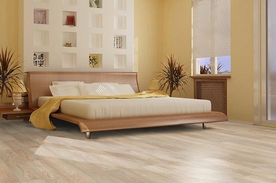 Теплые пастельные тона в оформлении спальни