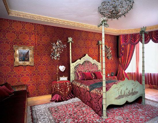 Орнамент в отделке и оформлении интерьера спальни в арабском стиле