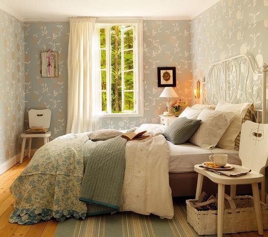 Кантри стиль в дизайне спальни 12 метров