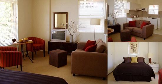 Идея для размещения мебели в спальне гостиной
