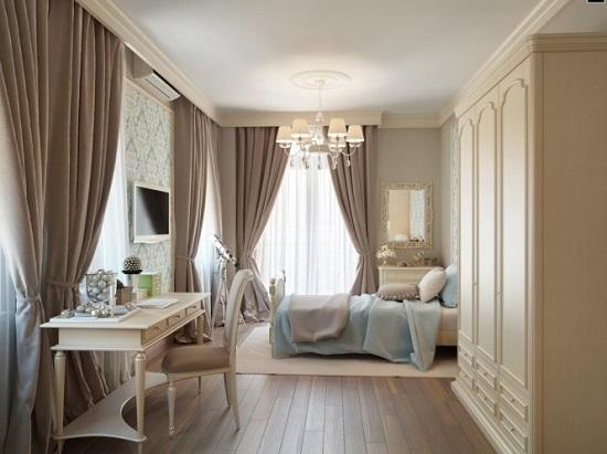 Классическая мебель в создании дизайна спальни кабинета