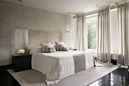 Декорирование окон в тон оформления интерьера спальни