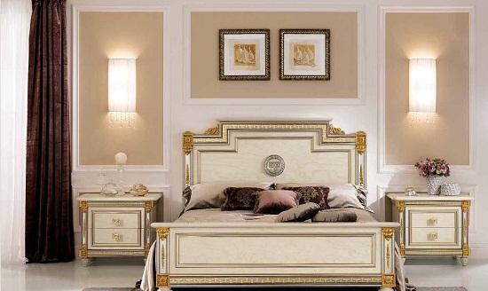 Дизайн в классическом стиле для спальни