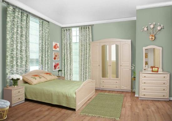 Линолеум с рисунком под деревянный паркет для пола спальни