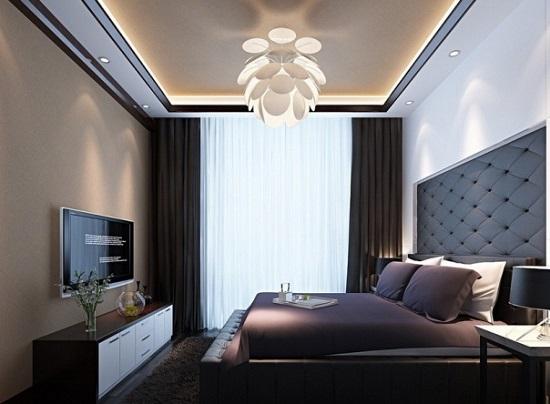 Невысокий комод в стиле минимализм для спальни
