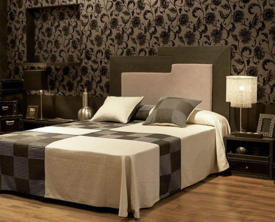 Оттенки коричневого и бежевого цвета в создании интерьера спальни