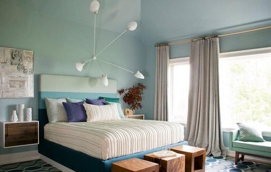Прикроватные тумбочки навесной конструкции в спальне
