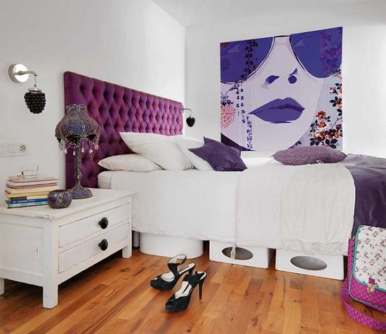 Элементы стиля поп арт в дизайне спальни 12 метров