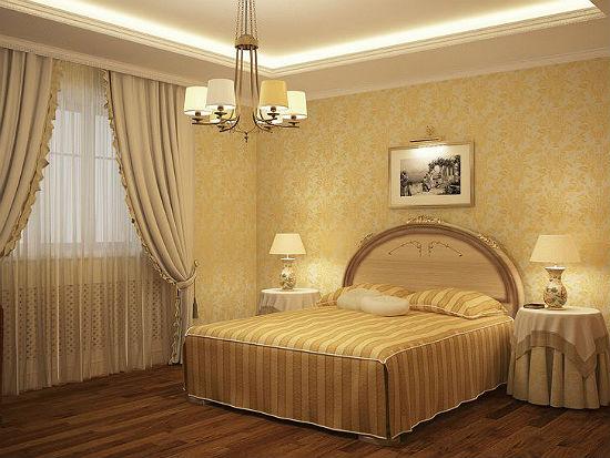 Нежные теплые оттенки в создании интерьера спальни