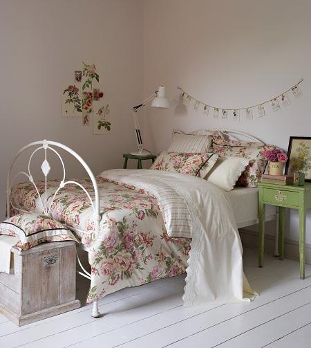 Винтажный стиль декорирования спальни