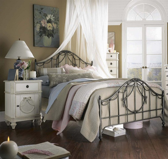 Дизайн спальни в стиле прованс для девушки
