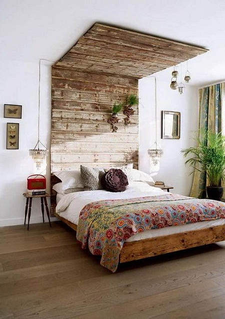 Выбор для оформления спальни стиля эко