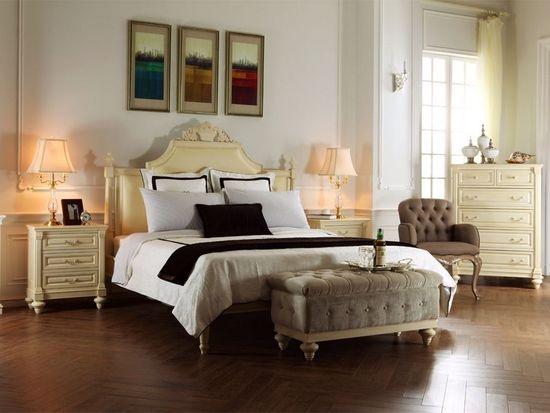 Решение для оформления интерьера спальни в стиле французский прованс