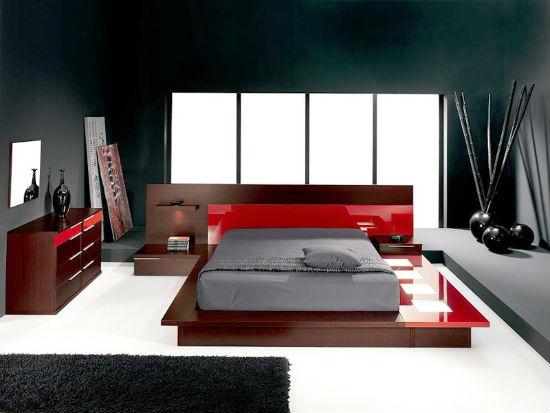 Строгие прямые линии в оформлении интерьера спальни хай тек